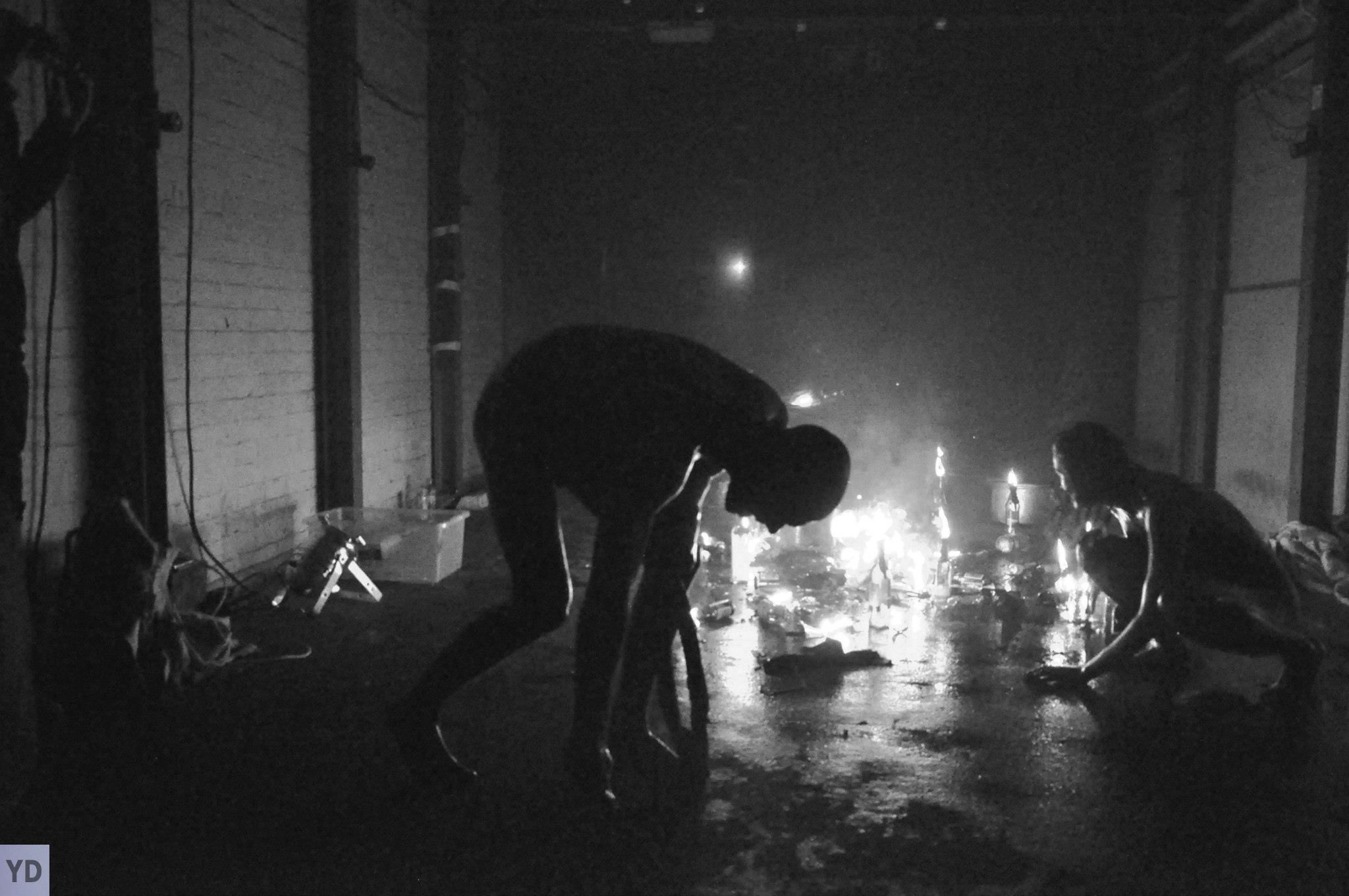 Artist Thomas Bresolin, performing at Tempting Failure 2013, Photo by Yiota Demetriou
